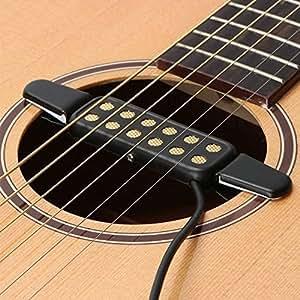 guitar pickup 12 hole sound pickup for acoustic electric guitar transducer. Black Bedroom Furniture Sets. Home Design Ideas