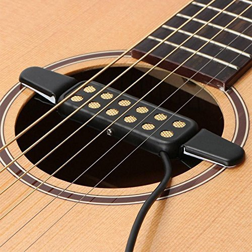 e Sound Pickup For Acoustic/Electric Guitar Transducer Microphone Wire Amplifier Speaker 3M Guitar Parts ()