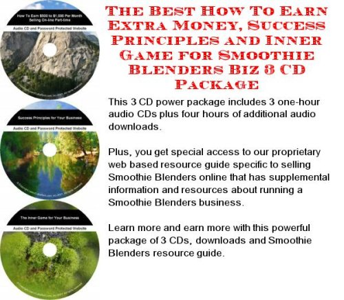 Massive Cash Flow Pack with Make An Extra Income, Marketing and Inner Game for Smoothie Blenders On-line Businesses 3 CD Course