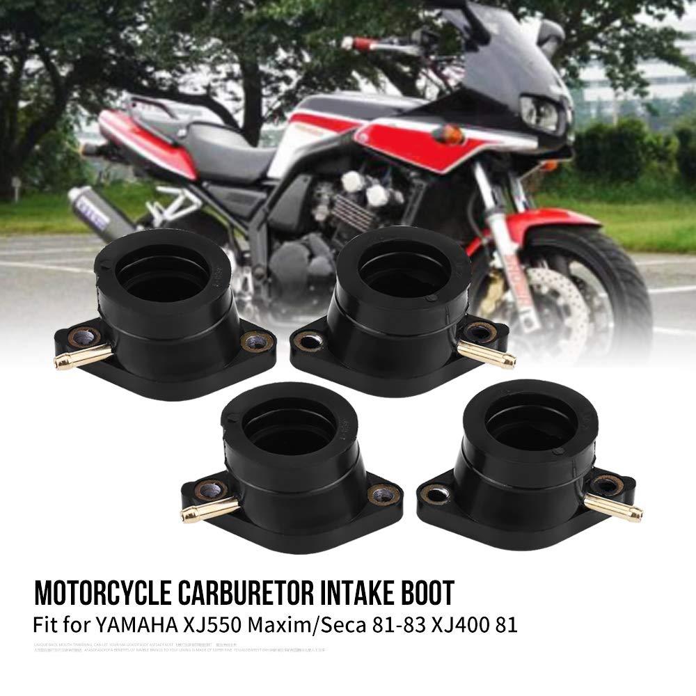 KIMISS 4Pcs Motorcycle Carburetor Intake Manifold Boot Joint XJ550 Maxim//Seca 81-83 XJ400