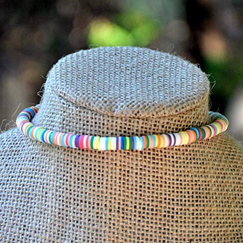 Neutral Color Mix Beaded Choker Necklace
