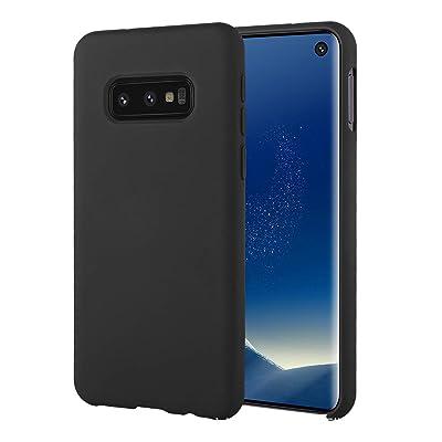 UNIYA Galaxy S10e Case, Slim Flexible TPU Liquid Silicone Rubber with Microfiber Cloth Lining Shockproof Protective Case (Black): Clothing