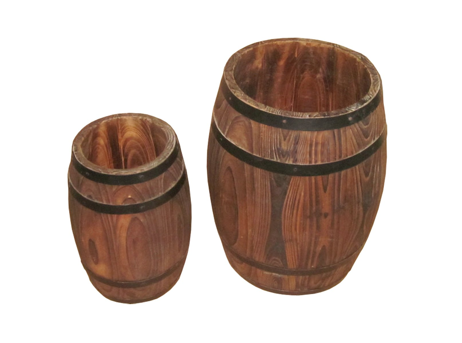 Screen Gems Wood Decor Barrels, Set of 2