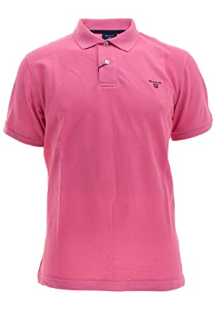 neueste Kollektion großer Rabatt feinste Stoffe GANT Herren Poloshirt The Summer Pique Kurzarm Rose (70) M