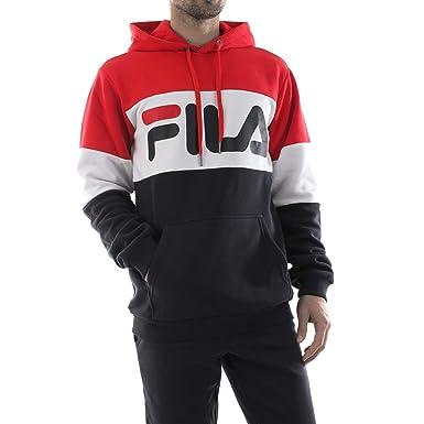 Fila Night Blocked Felpa Rossa da Uomo 687001 A089: Amazon