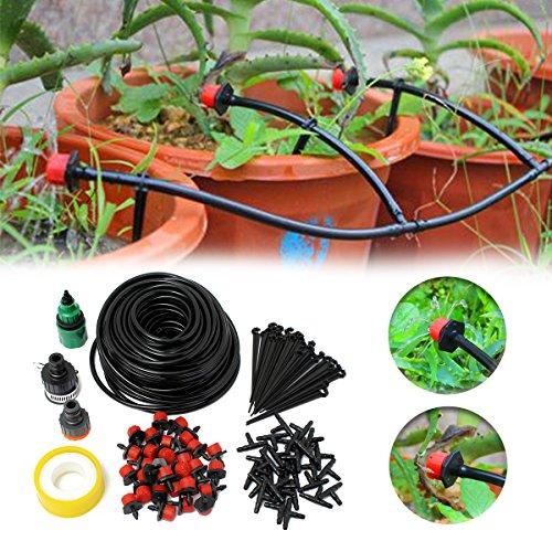 Drip Nozzle (KINGSO 82ft Micro Drip Irrigation Kit System Blank Distribution Tubing Irrigation Sprinkler System Kit Self Plant Garden Hose Watering Kit)