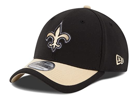 New Era Men s New Orleans Saints 39Thirty 2015 On Field Hat Black Gold Size  Small 485d4dbd64