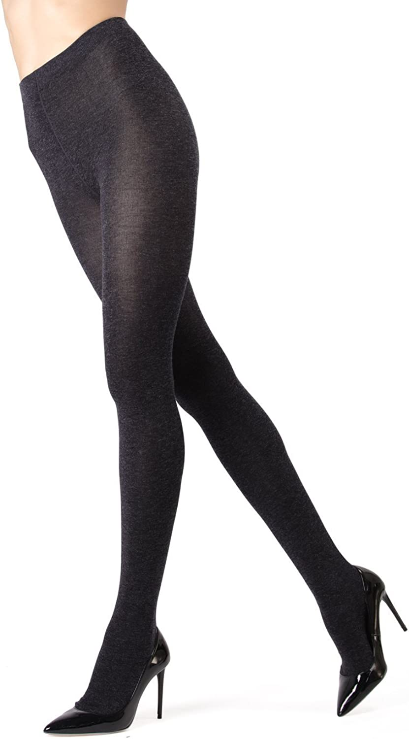 Women Winter Cable Knit Sweater Footed Tights Stretch Stockings Pantyhose Solid