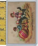 Victorian Card, 1890's, Barber Watchmaker, Oxford MA, Boys, Dog, Ball