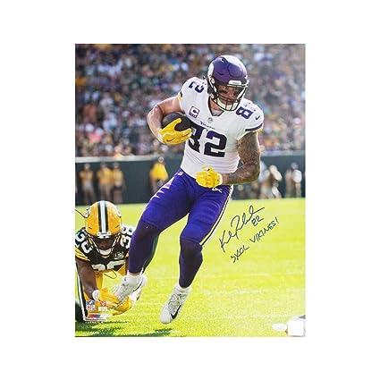 b3f3b3247e6 Kyle Rudolph Skol Vikings Autographed Minnesota Vikings 16x20 Photo - JSA  COA