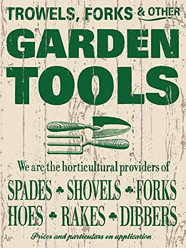 """ART/ARTWORK - Licensed Collectibles And Original Designs - FARMER'S MARKET - GARDENING - FARMING - FRUITS - VEGETABLES [354210248] - """"GARDEN TOOLS"""" [lovely image and stylish design] - Artwork/Sign Is Paint On Metal [MSOMS] from MSOMS"""