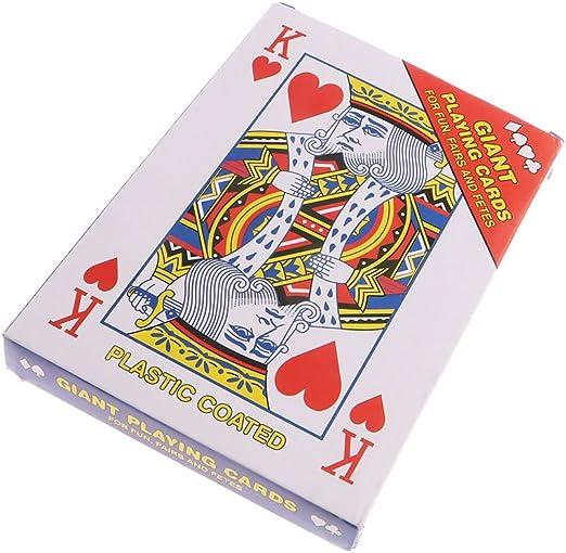 bushyou rojo clásico papel Poker gran tamaño diversión juegos de mesa regalo 175 x 125 mm: Amazon.es: Deportes y aire libre
