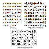 Sanyan 264Black&Color Festival Symbols, Cartoons, Emoji & Symbols for Use with A4 A3 A5Cinematic Light Boxes, Plastic,