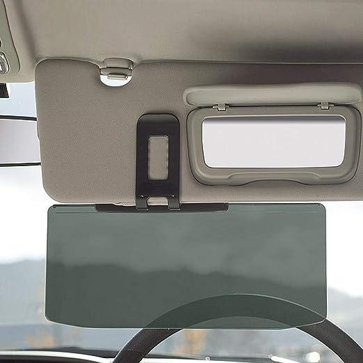 1 x Clip-on Car Day Night Anti-Glare Vison Safty Drive HD Mirror Glass Sun Visor