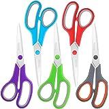 """Scissors Bulk Set of 5-Pack, Niutop 8"""" Multipurpose Sharp Scissors for Office Home High/Middle School Student Teacher Scissor"""