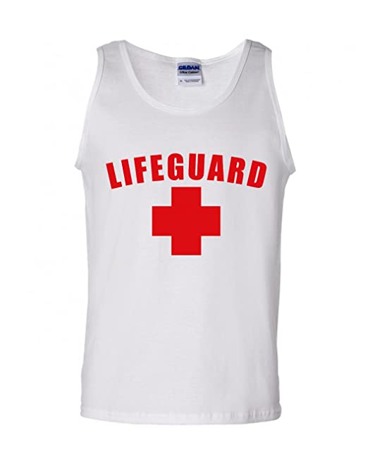 70000831cca Lifeguard Tank Top Lifeguard Tanks White or Red  Amazon.ca  Clothing    Accessories