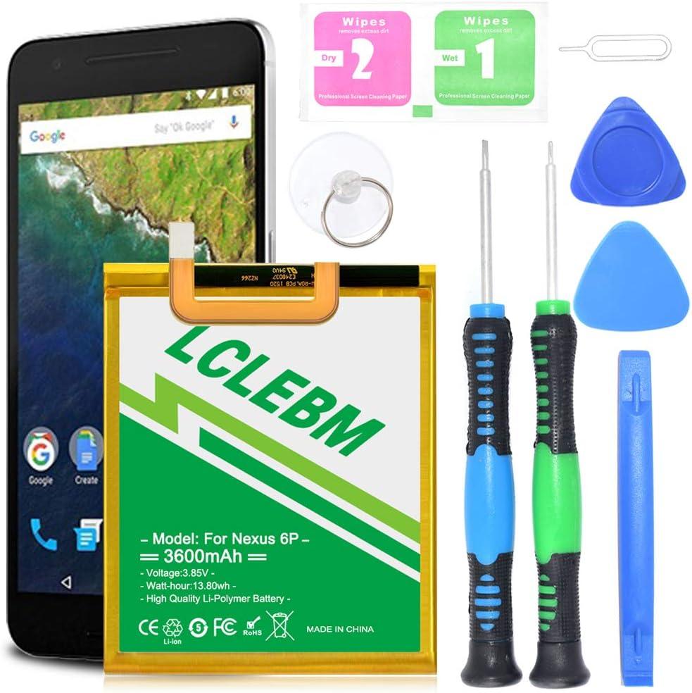 18 Month Warranty Nexus 6P Battery YISHDA 3450mAh Replacement HB416683ECW Battery for Huawei Google Nexus 6P H1511 H1512 with Tools Huawei Google Nexus 6P Battery Kit