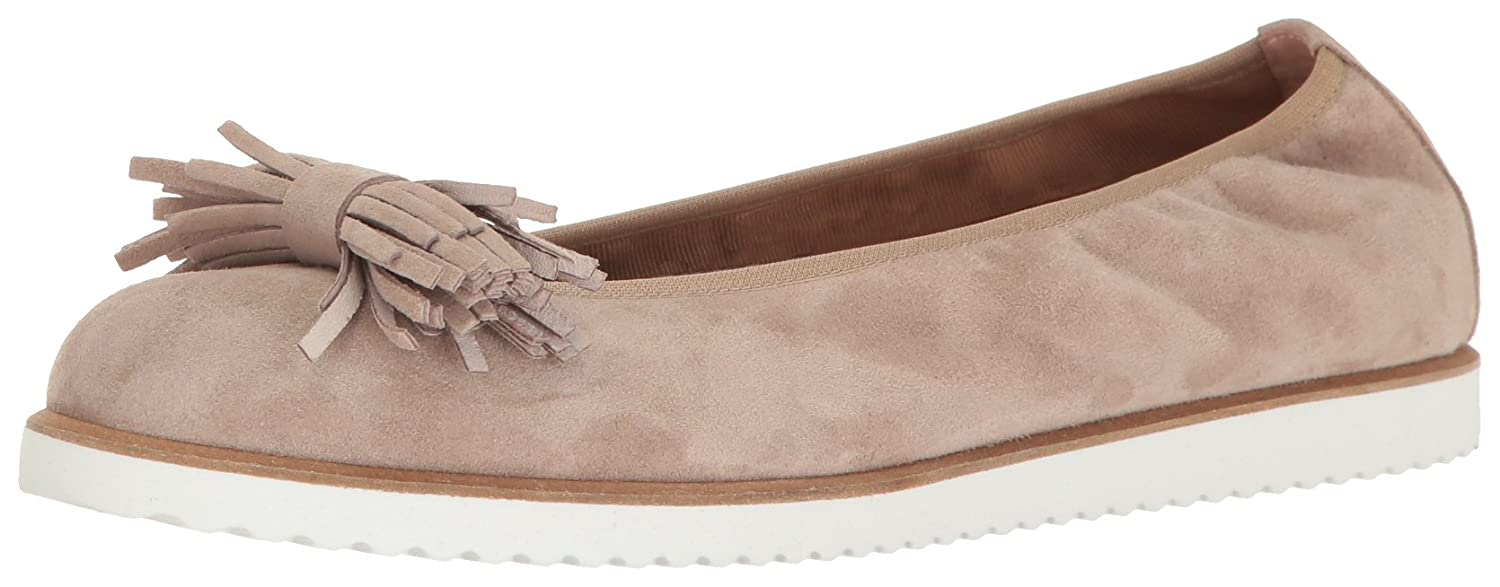 French Sole FS/NY Women's Wyatt Ballet Flat B01N5OU5Q8 9 B(M) US|Taupe Suede