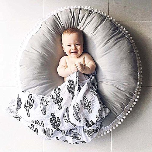 Hiltow Kids Floor Pillow Seating Cushion Infant Seat Loungers Newborn Lounger for Floor and Game Rooms(Diameter : 35 inch)
