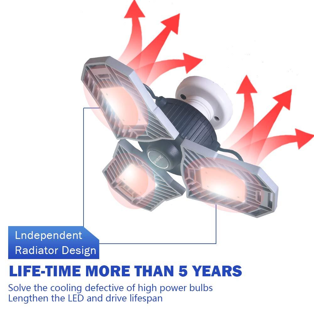 Garage Lighting,E26 Led Bulb 6000LM,Led Garage Ceiling Lights,led Garage Lights,Garage Light Bulb,led Bulb for Garage,led Shop Light,Workshop Light (Daylight, 60w''Standard'') (60w''Standard'' Daylight) by LifeLux (Image #5)