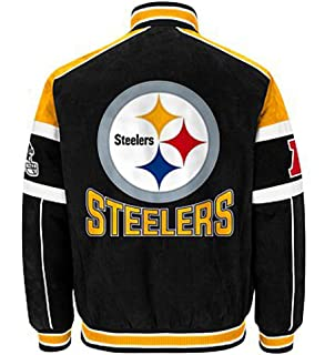 save off 8e118 37257 Pittsburgh Steelers Suede Leather Jacket NFL Steelers Coat Apparel asst  sizes