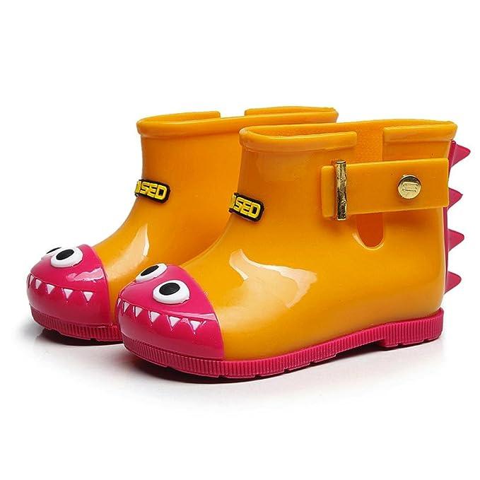 3558566b9 ZODOF Niño Impermeable de Goma de tiburón Infantil Bebé Botas de Lluvia  Niños Niños Zapatos de Lluvia Vintage Calzado Deportivo Running Zapatos  Ligero  ...