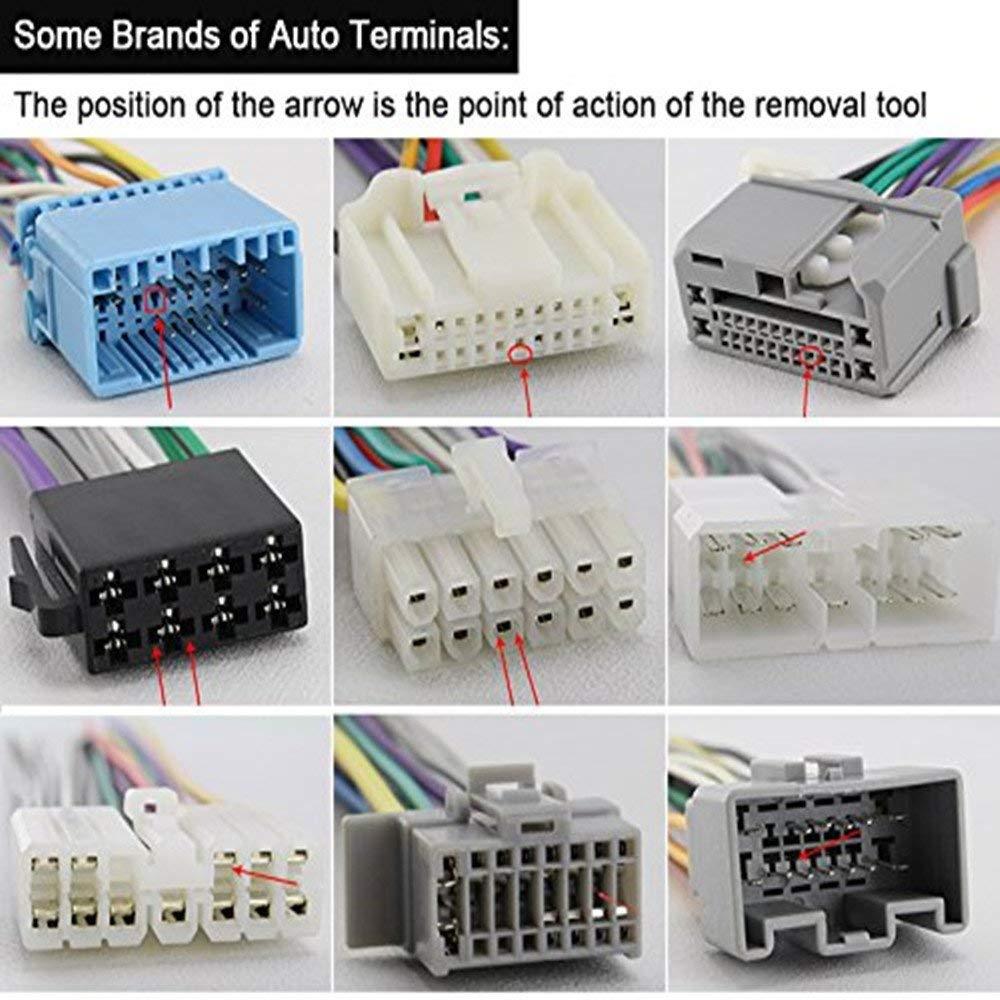 YGL 26pcs Outils de Suppression de Terminaux pour Voiture Extracteur de Connecteur de Sertissage de C/âblage /électrique