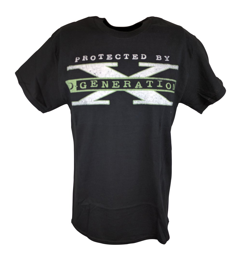 D-Generation Protected by DX WWE Mens T-shirt-XL