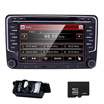 61t7ilgDMCL._SY355_ amazon com hd 7 inch double din car stereo gps dvd navi for vw  at gsmx.co
