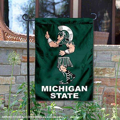 - College Flags and Banners Co. MSU Spartans Sparty Mascot Garden Flag