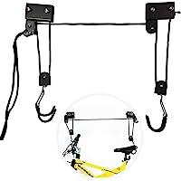EXLECO Fietslift Laadvermogen 57 KG Fietsplafond Universele Fietslift met haak en touw Geschikt voor fietsen en jacht