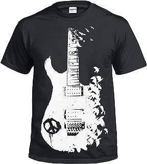 4aa2c07ee13f Gildan Band Guitar Black T Shirt Banksy Metal Peace Music Crow Goth Tattoo  Halloween Tee Gift