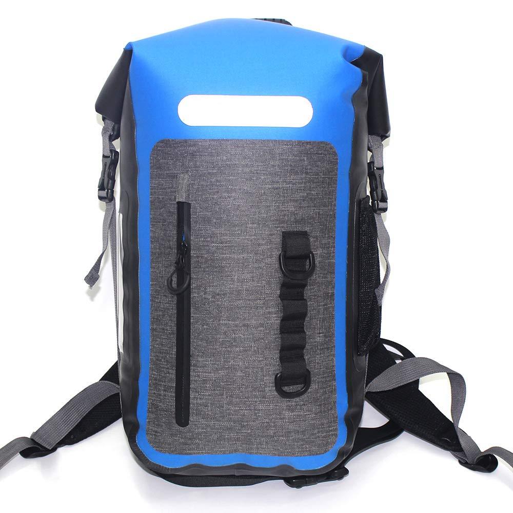 ダブルショルダー防水バッグ - 泳ぐビーチカヤック漂流キャンプバックパックのための非毒性環境保護TPU漂流旅行バックパックをダイビングすることができます   B07NV6BMSN