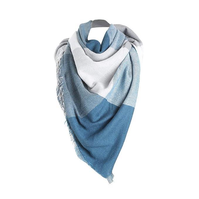 Damen Modische Halstuch Schal Wollschal Strickschal Scarf