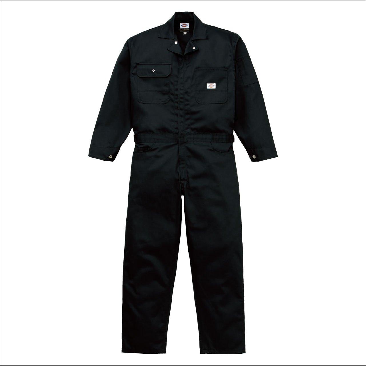 Dickies(ディッキーズ) つなぎ ミニヘリンボン スタイリッシュ Dickies-TK-1002 B00TIHGT8I S ブラック ブラック S