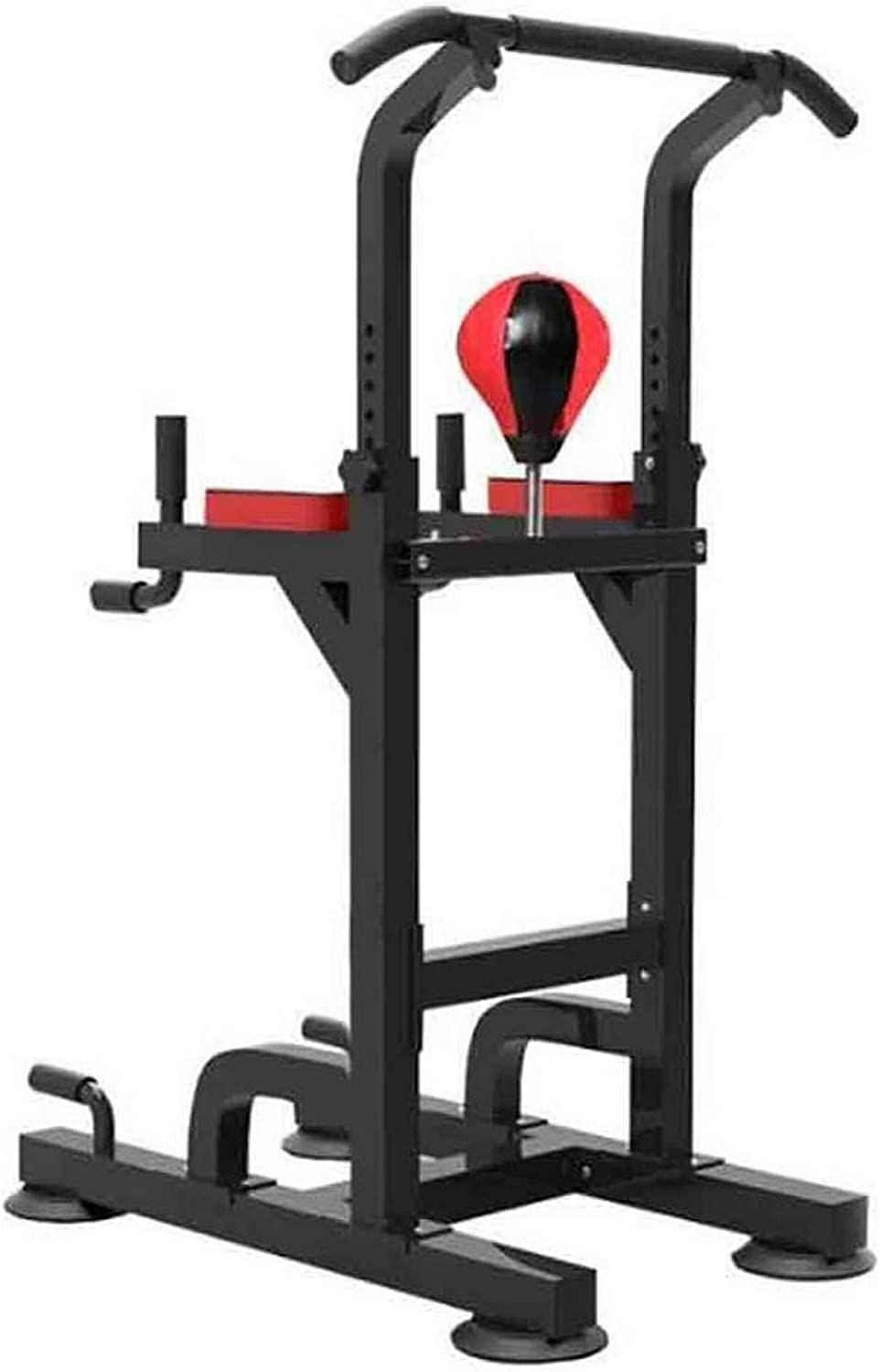 Wghz Power Tower Workout Dip Station Pull Up Bar Stand Workout Station with Boxing Ball Design Multifunctional Fitness Machine for Home Gymnastics