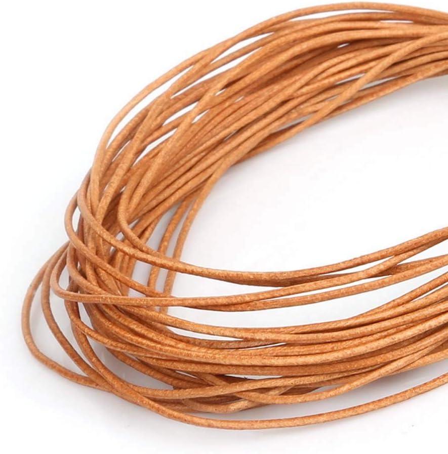 3mm MZY1188 Cadena de Cuerda de Cuero sint/ético de Color Natural de 5 Metros Cuerda de Cuerda Redonda para Collar de Bricolaje Pulsera Abalorios joyer/ía DIY Manualidades Cuerda di/ámetro 1//1.5//2