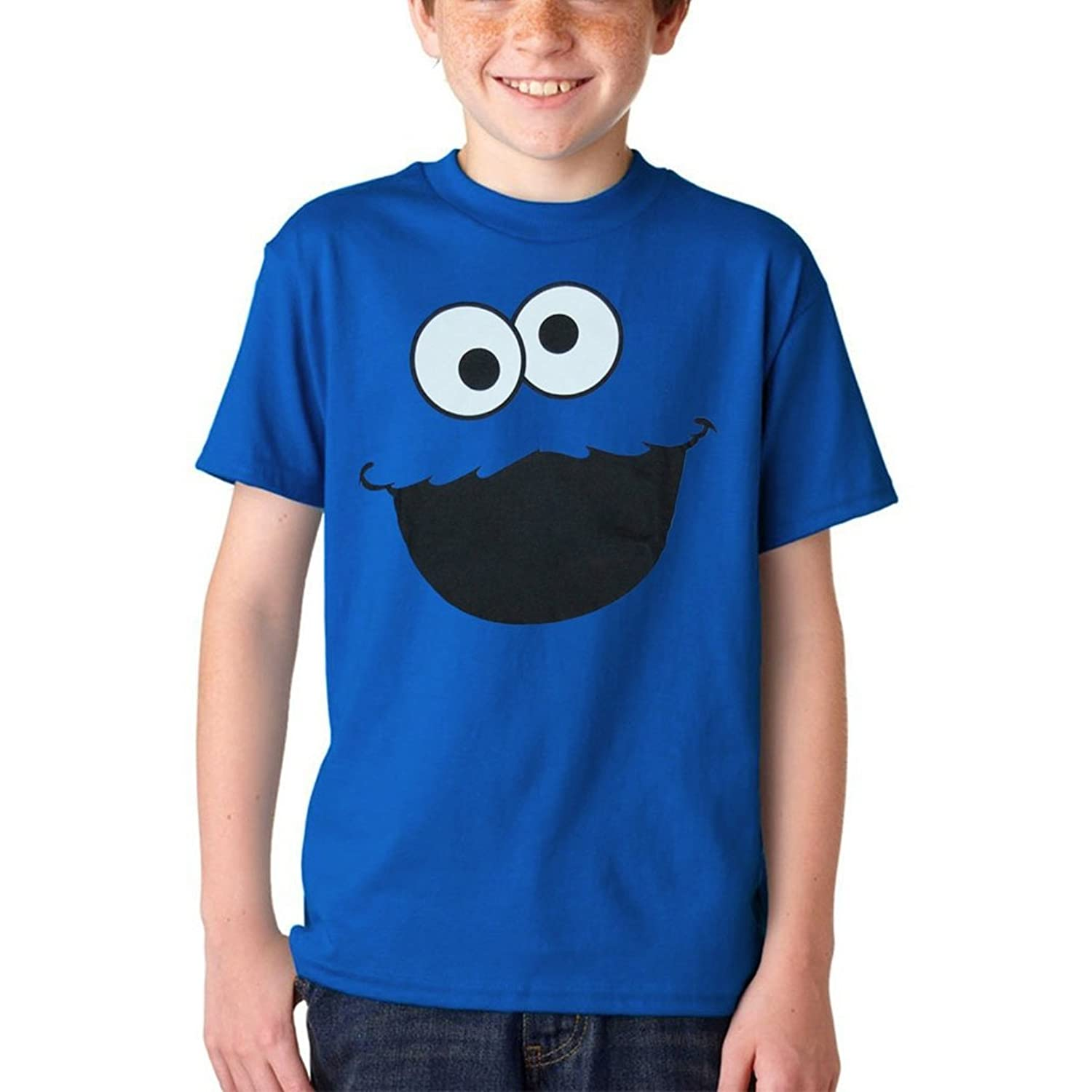 Amazon Sesame Street Cookie Monster Face Youth Kids T Shirt