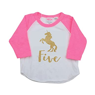 Image Unavailable Not Available For Color 5 Year Old Unicorn Shirt 5th Birthday Girl Outfit