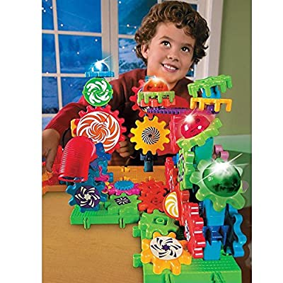 Learning Resources Gears! Gears! Gears! Lights & Action Building Set, Gear Toy, 121 Pieces: Toys & Games