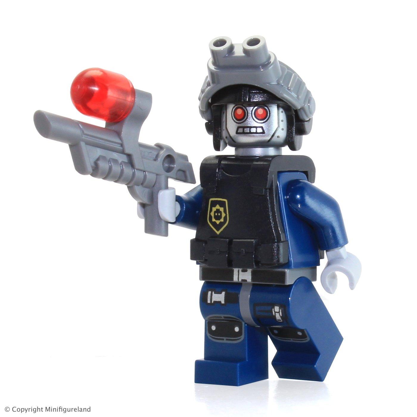 amazon com the lego movie minifigure robo swat w robot