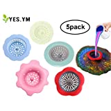 YES.YM 5 Pieces Flow Painting Tools Kits Drawing Sets Sink Flower Strainer Drain Plastic Silicone Drain Basket for…