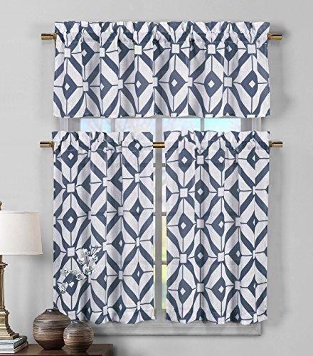 Blue Kitchen Curtains Amazon Com