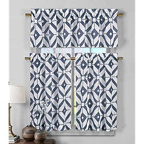 Blue Kitchen Curtains: Amazon.com