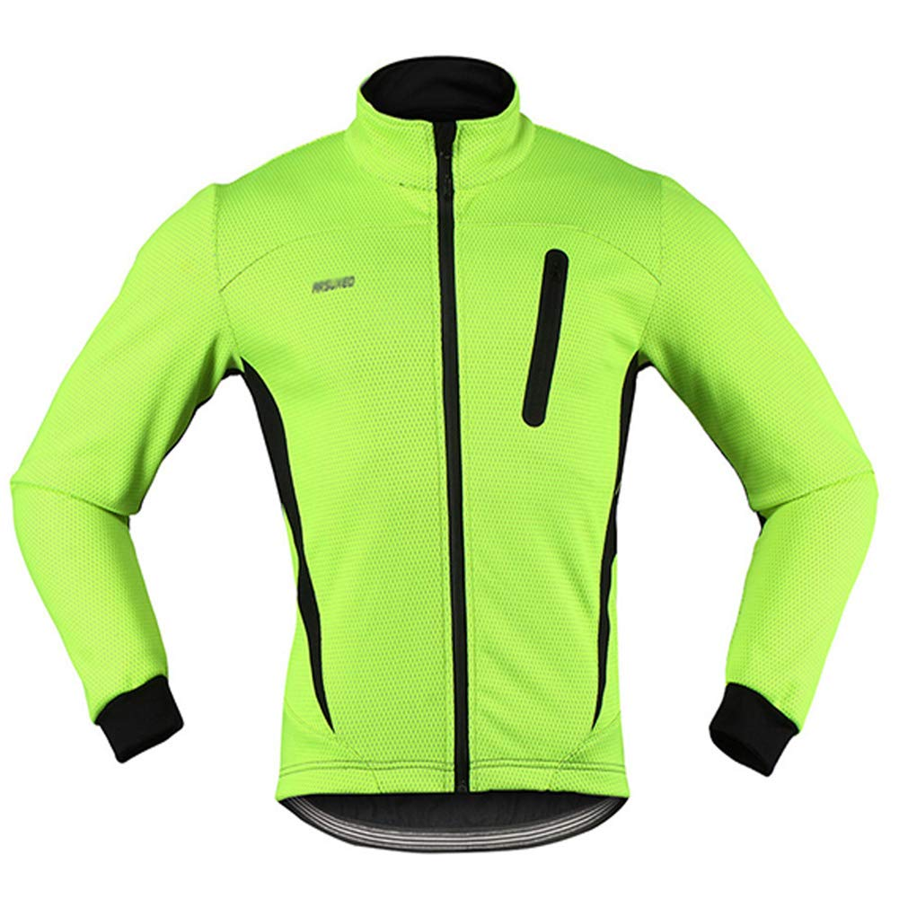ZXCV Herren Thermal Cycling Jacke Winter Warm Up Fleece Fahrrad-Kleidung windundurchlässige wasserdicht Sport-Mantel-MTB Bike Jersey