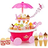 ESnipe Mart® Ice Cream Play Cart Kitchen Set Toy with Lights and Music, Small