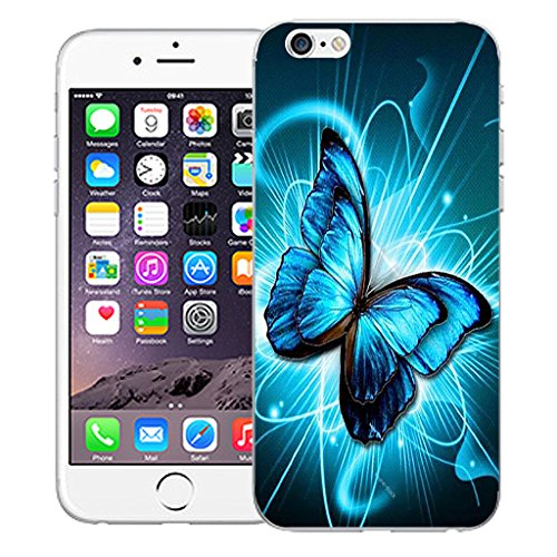 """Mobile Case Mate iPhone 6 4.7"""" Silicone Coque couverture case cover Pare-chocs + STYLET - Futuristic Butterfly pattern (SILICON)"""