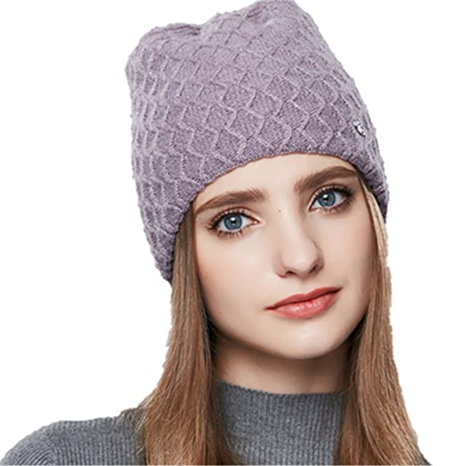 Beb/é Sombrero de Punto Forro Suave Infantil Oto/ño Invierno Beanie Gorro de Lana con Orejeras Knit Hat Caliente para Ni/ño Ni/ña 6-24 Meses FEOYA
