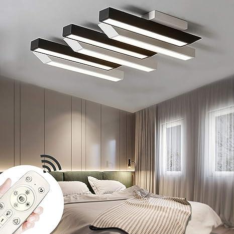 MIWOOHO 72W LED Moderno Lámpara De Techo Regulable Lámpara ...