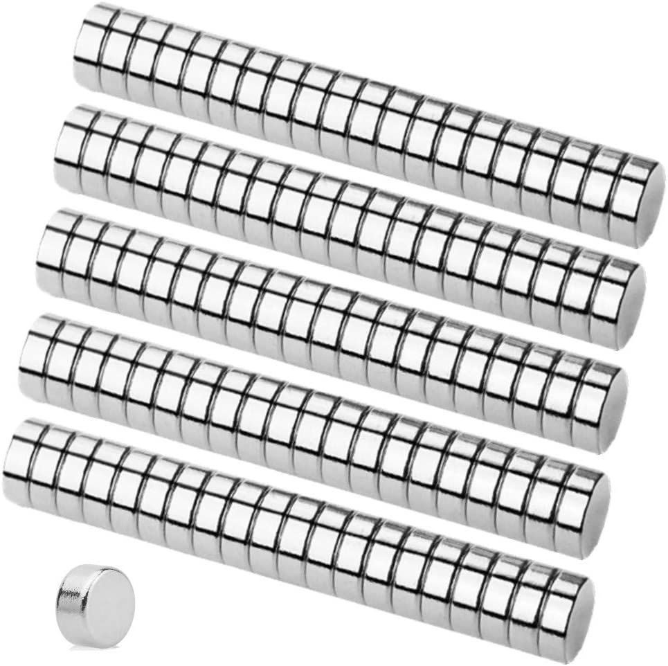 100PCS 6/×3MM Small Cylinder Fridge Magnets Office Magnets GBYMIUY Round Refrigerator Magnets Durable Mini Magnets Whiteboard Magnets